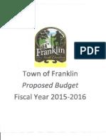 FY 2015-2016 Budget Message - Franklin