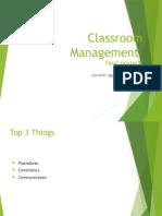 classroom management final 2