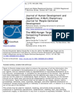 The MDG Hunger Target and the Competing Frameworks of Food Securit