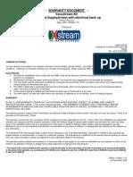 Vacustream Warranty (B2)