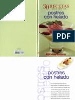 30 Postres Con Helados