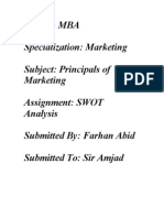 SWOT Analysis of PTCL