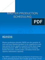Master Production Scheduling