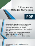 El Error en Los Métodos Numéricos