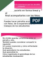 Presentación NARRACION DOCUMENTADA