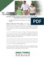 30-04-2015 Serenatas, jaranas y danzón en colonias y comisarías de Mérida, compromiso de Nerio Torres Arcila