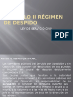 Capitulo II Régimen de Despido