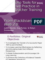 E-Portfolio Tools for Reflective Practice in Initial Teacher