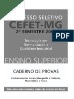 Prova CEFET-MG 2005