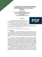 Kajian Nilai Ekonomi Apartemen Bersubsidi Terhadap Penghuni dan Masyarakat.pdf