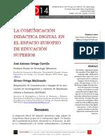 Icono14. Nº14. La comunicación didáctica digital en el EEES