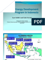Nuclear Energy Development Program in Indonesia