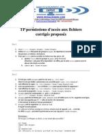 TP Per Missions d Acces Aux Fichiers Correction
