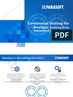 Enable Continuous Delivery with Continuous Testing - Parasoft