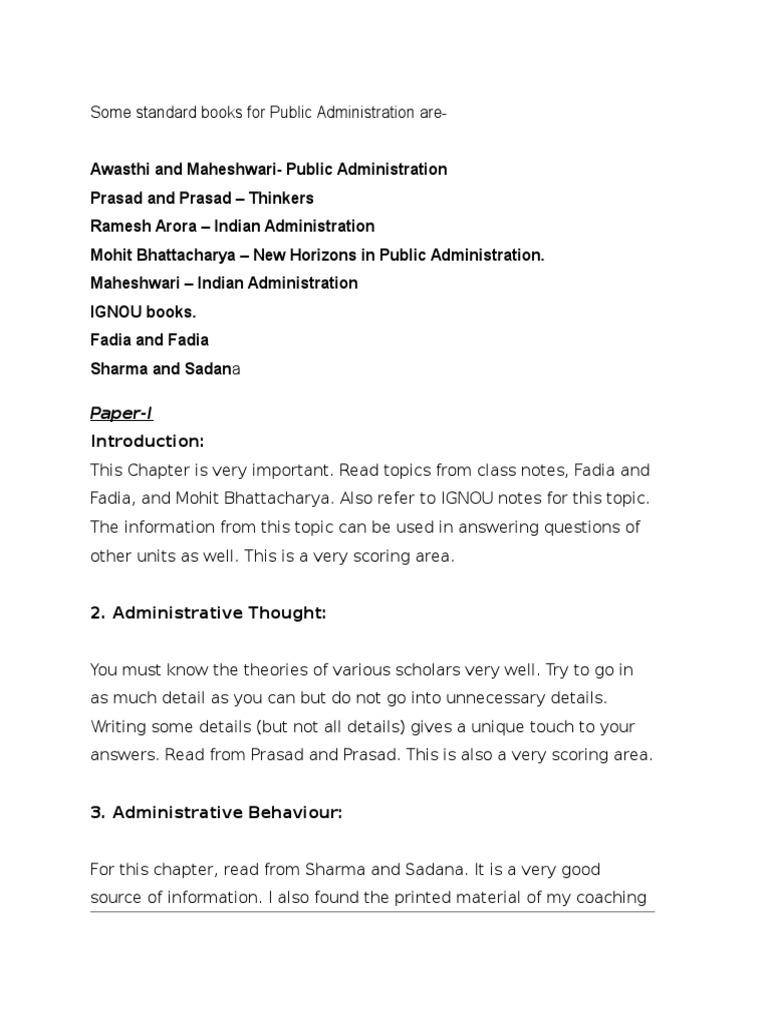 Ignou Notes On Public Administration Pdf