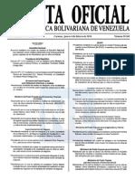 Sumario Gaceta Oficial 39.361