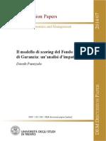 Panizzolo Scoring fondo centrale