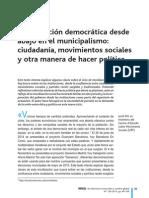 La Revolucion Desde Abajo en El Municipalismo J. Mir