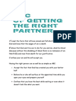 abc of getting the right partner