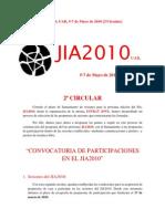 Segunda Circular JIA2010