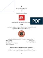 HDFC ERGO SummeerIntern Ship Project Report