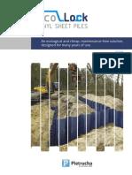 Catalogue pvc sheet pile
