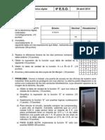 Prueba Electrónica Digital 4º E.S.O. 2014-2015
