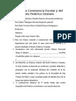 Acto de La Convivencia Escolar y Del Beato Federico Ozanam