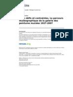 Insitu 10846 22 Entre Defis Et Contraintes Le Parcours Museographique de La Galerie Des Peintures Murales 1937 2007
