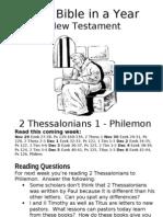 5 NT 2 Thess 1 to Philemon