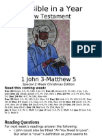 8 NT 1 John 3 to Matthew 5