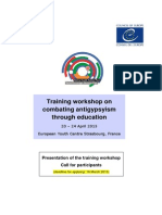 Training Workshop Combating Antigypsyism