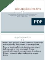 Manipulando Arquivos Em Java