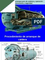Procedimientos de arranque paro de calderas y operación.ppt