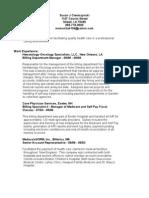 Resume Dec 2009