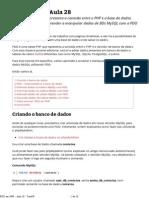 Aula 28 - PDO em PHP