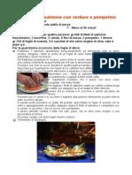 Carpaccio Di Salmone Con Verdure e Pompelmo