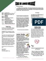 May 2015 Newsletter 2014 - Spanish