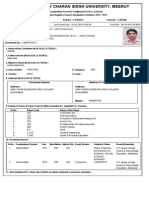 Examination Form With Challan