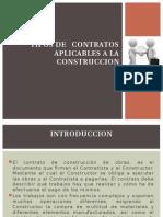 Tipos de Contratos Aplicables a La Construccion