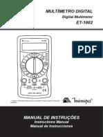 Manual multímetro ET-1002-1103-BR