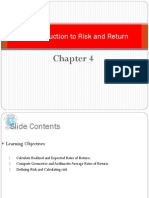An Introduction to Risk and Retur