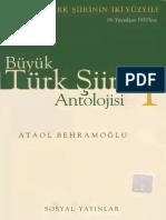 Ataol Behramoğlu - Büyük Türk Şiiri Antolojisi 1 - Sosyal Yay