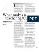What Makes a Teacher Special