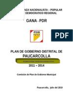 Plan de Gobierno Pdr Paucarcolla