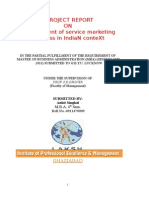 Development of Service Marketing Business in IndiaN ConteXt