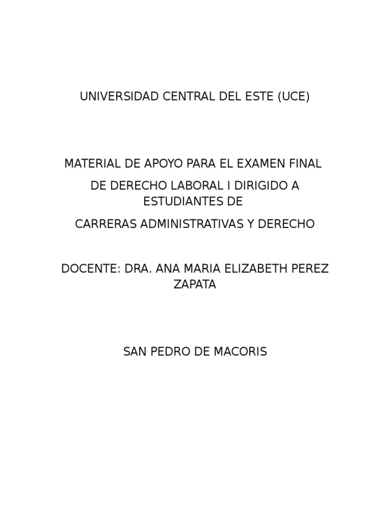 Examen Final Derecho Laboral Folleto