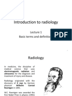 Radiology Lecture 01