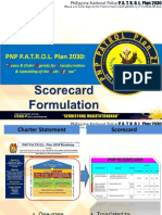 PNP P.A.T.R.O.L. 2030 Score Card Dashboard Formulation