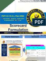 PNP P.A.T.R.O.L. 2030 Score Card Dashboard Formulation